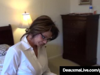 Texas mummy Deauxma As A Census Taker drills Brooke Tyler! free sex